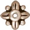 Bead Cap Leaf 8mm Antique Silver